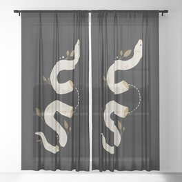 Ritual Snake Sheer Curtain