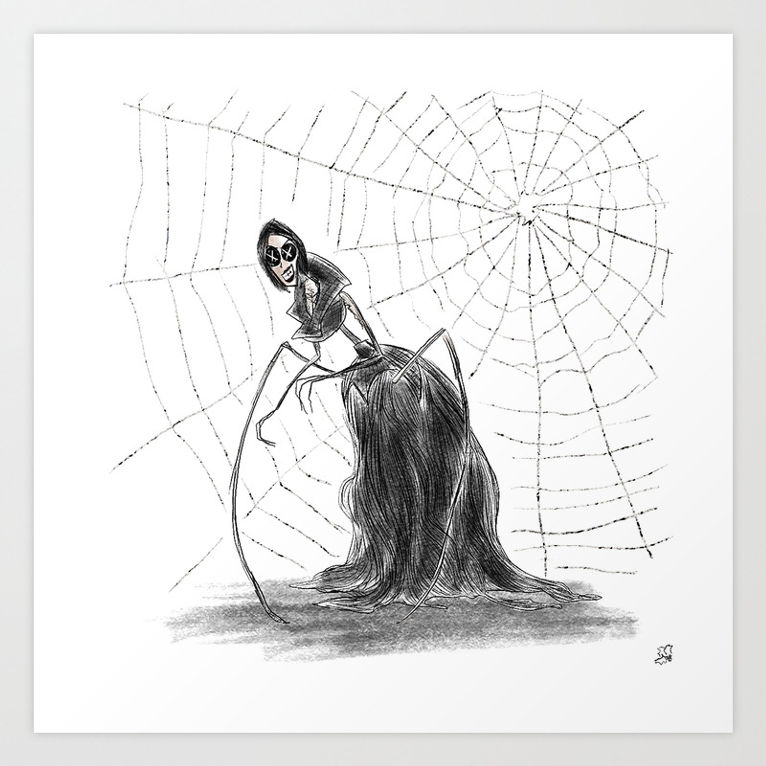 Coraline The Other Mother Art Print By Hollydoesart Society6