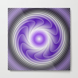 The Power Of Purple, Modern Fractal Art Graphic Metal Print