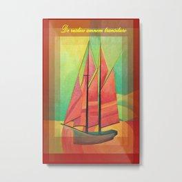 De Rustico Amnem Transituro Greeting Card Metal Print