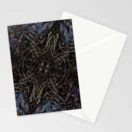 Tree Root Fractal Stationery Cards