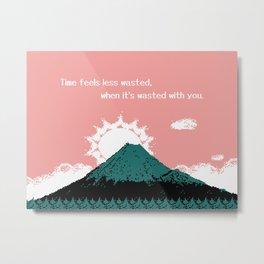 Fuji Memories (text version) Metal Print