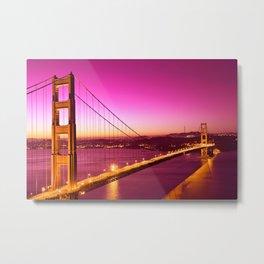 Golden Gate Love Bridge Metal Print