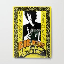 Vintage 1967 Bob Dylan Blonde on Blonde Concert Gig Poster Metal Print