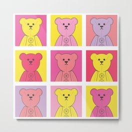 Grumpy Teds Bright Block Metal Print