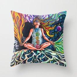 Goddess Rising Throw Pillow