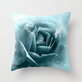 Beautiful blue roses Throw Pillow