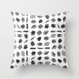 Sribble pattern mud-cloth Throw Pillow