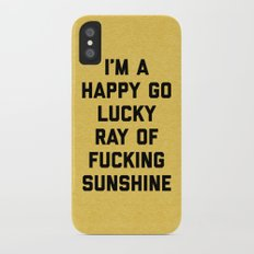Ray Of Sunshine Funny Quote iPhone X Slim Case