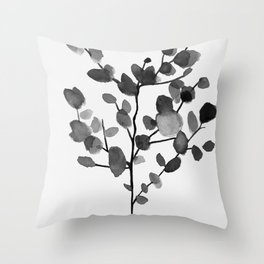 Watercolor Leaves II Throw Pillow