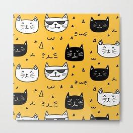 Cats Face Metal Print