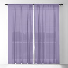Ultra Violet Purple - Color of the Year 2018 Sheer Curtain