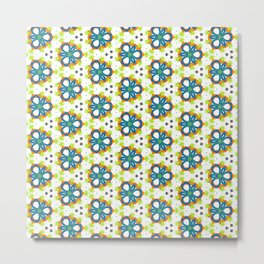 Delicate Blue Abstract pattern Metal Print
