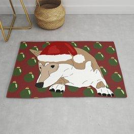 Shiba Inu Dog Christmas Rug