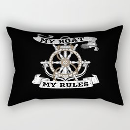 Boat Captain On The Sea Gift Idea Rectangular Pillow