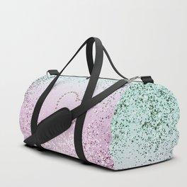 Mermaid Lady Glitter Heart #4 #decor #art #society6 Duffle Bag