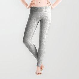 Mandala Soft Gray Leggings