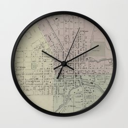 Vintage Map of Ithaca NY (1866) Wall Clock