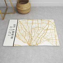 ST. LOUIS MISSOURI CITY STREET MAP ART Rug