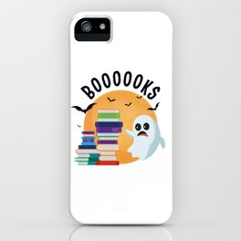 Boooooks Halloween, Booooks Cute Halloween iPhone Case