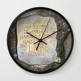 Rememberance  Wall Clock