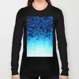 Blue Crystal Ombre Long Sleeve T-shirt