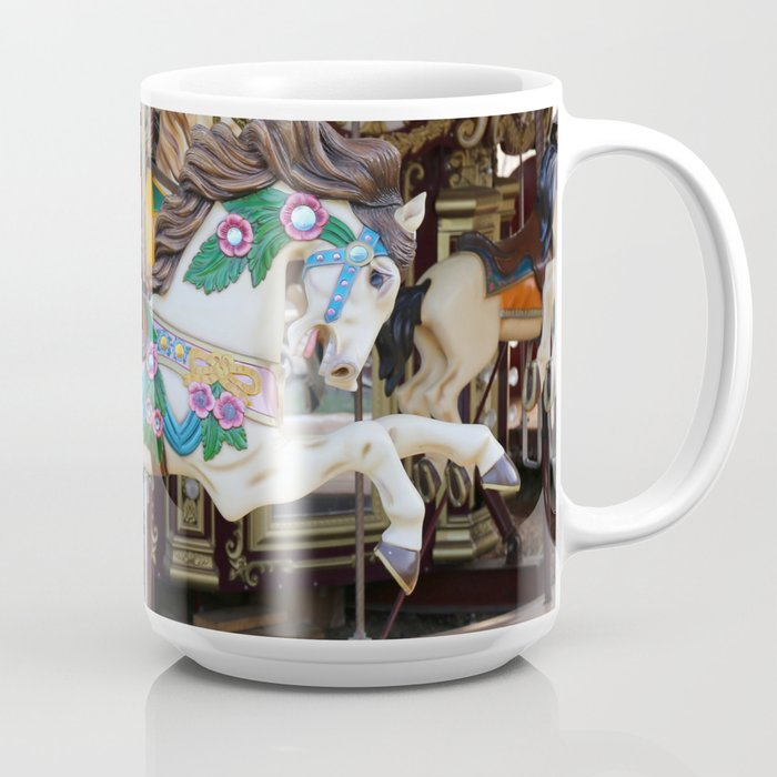 Vintage Carousel Horse galloping Coffee Mug by Christine aka stine1