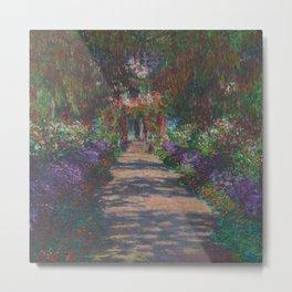 Eine Allee in Monet's Garten in Giverny Metal Print