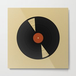 Warm vinyl Metal Print