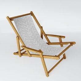 Mudcloth Big Arrows in Grey Sling Chair