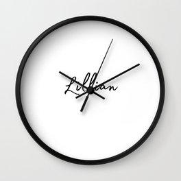 Lillian Calligraphy Wall Clock