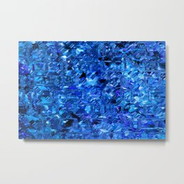 Ice Crystals Abstract Metal Print