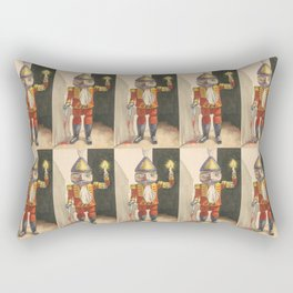 Nutcracker with a Candle and Bloody Sword Rectangular Pillow