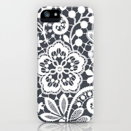 White Lace. Seamless Pattern. iPhone Case