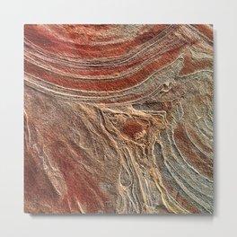 Paris Wilderness: Sandstone Pattern at the Wave Metal Print