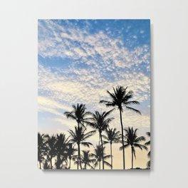 Warm Palm Tree Sunrise  Metal Print
