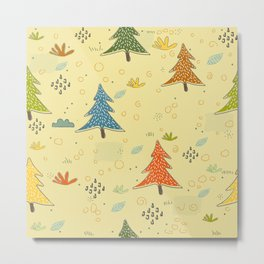 Cute Spruce Forest Metal Print