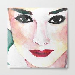 Audrey Hepburn Portrait Metal Print