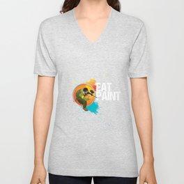 Eat Paint Paintball Player Paintball Marker Gift Unisex V-Neck