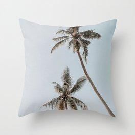 two palm trees Throw Pillow