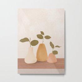 Three Little Branches Metal Print
