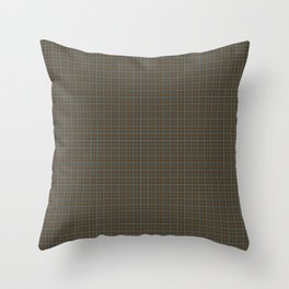 Gordon and Meldrum Clan Weathered Scottish Tartan Old Colors Ancient Dyes Throw Pillow