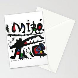 Joan Miro - Eaux Fortes 1983 - Artwork for Wall Art, Prints, Posters, Tshirts, Men, Women, Youth Stationery Cards