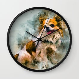 Chihuahua Art Wall Clock