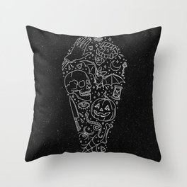 Halloween Horrors Throw Pillow