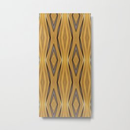 Yellow , Ochre and Brown Diamond Pattern Metal Print