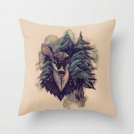 Spirit Deer Tan Throw Pillow