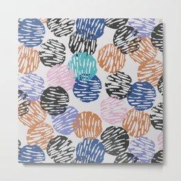 Thumbprint Dots Metal Print