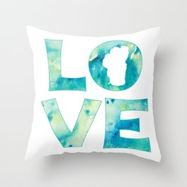 Waterlove Throw Pillow