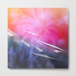 Abstract Coral & Deep Sea Seascape. Sunset & Sunrise colours. Metal Print
